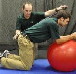 abdominal roll out on legs