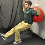 Single Leg Ball Squat
