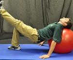 Single Leg supine Ball Squat