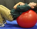 Spine Squat on Ball