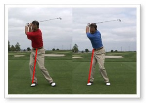Phases of the golf swing - the top.