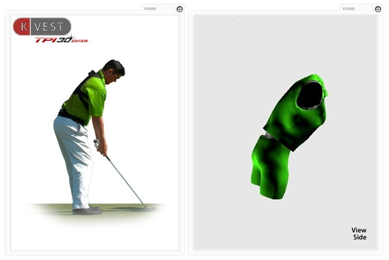 Good Golf Posture measured by the K-vest.